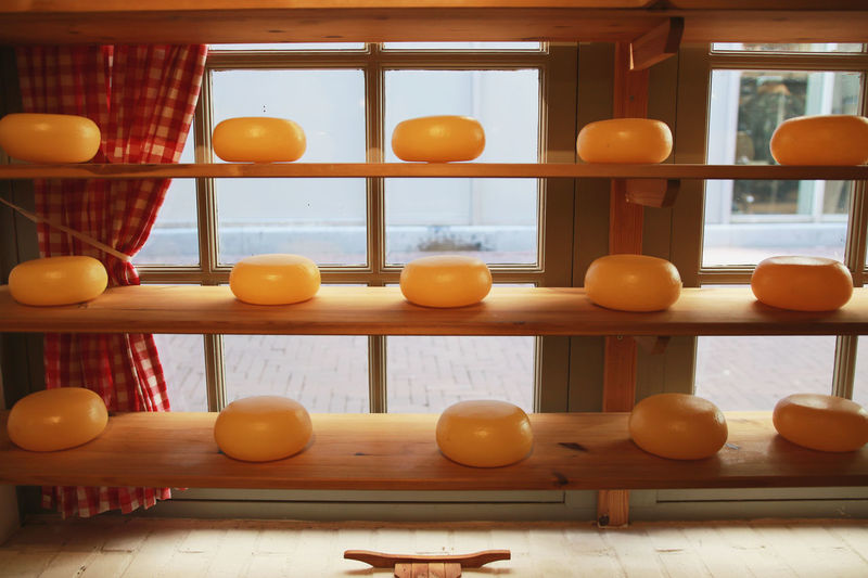 Cheese! Cheesecake Industry Market Production Tradition Cheese Cheese Factory Cheeses Dairy Factory Food Food Industry Holland Many Milk Milk Products Old Old Buildings Production Line Products Ripening Shelves Shop Window Traditional