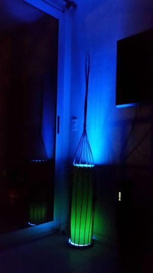 Luz Azul Lampara Peace Relax Illuminated Brillo Night House One