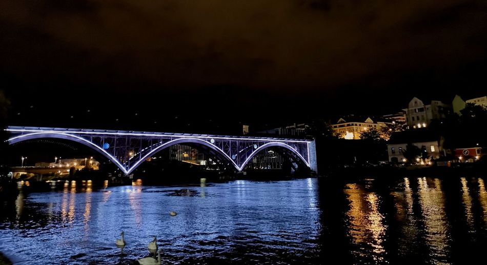 Middle night Maribor bridge Arch Built Structure Engineering