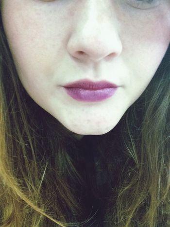 Pale Lips ♡ Purple Lipstick