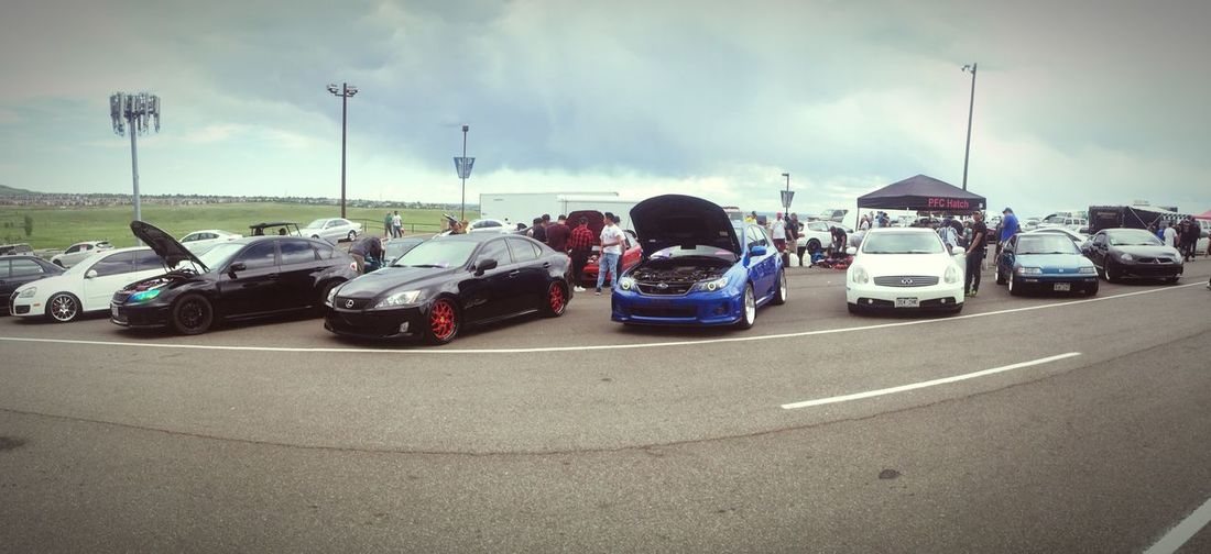 Sunday morning at the car show. The white G35 is my boyfriends Car Bandimere Speedway Infiniti G35