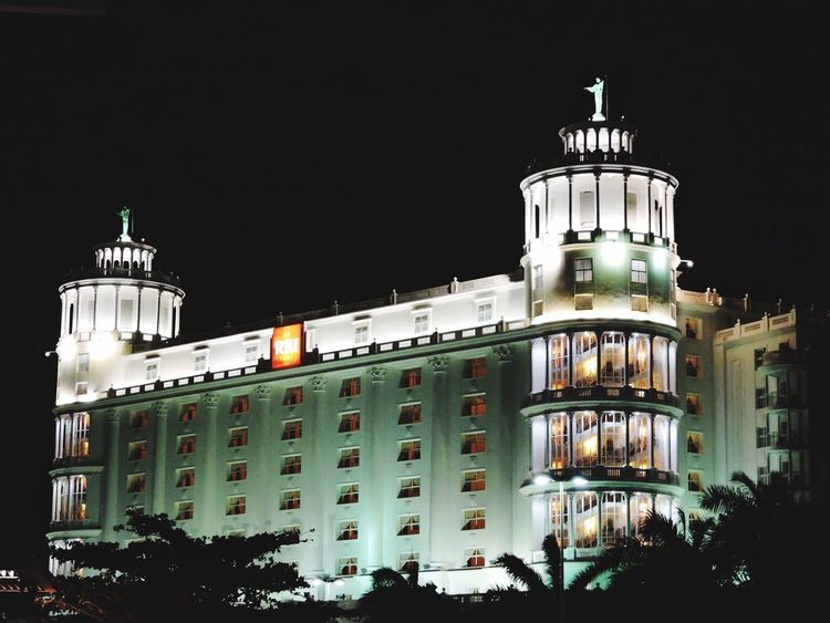 Building Exterior Architecture Night Built Structure Outdoors Low Angle View Illuminated No People City Sky Riu Hotel Riu