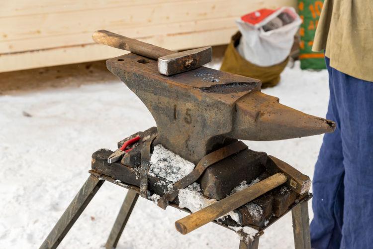 Close-up of anvil