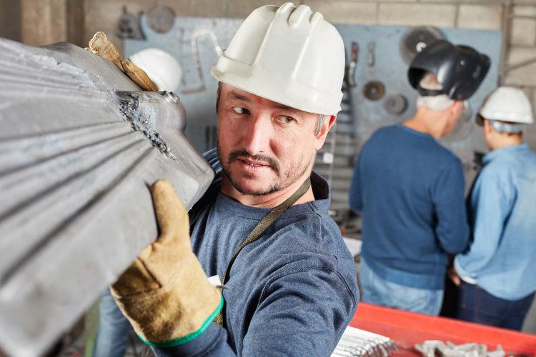 Portrait of people working