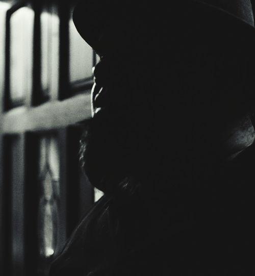 "Brothah Tim in..... ""It was a cold dark night"" lol Anonymousnate Photography Showcase: December Blackandwhite Grain Shadows Shades Of Grey Beard Night Cold Dark Man Mysterious"
