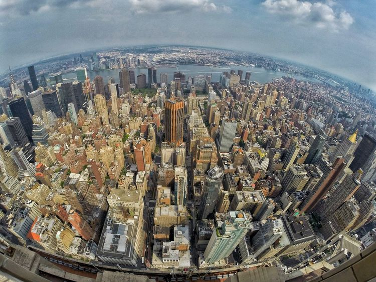 Empire State Building, 5th Ave at Manhatan New York Gopro GoPro Hero3+ Eyeem Philippines View From The Top Feel The Journey Perpective Perspectives