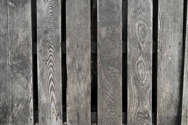 Full frame shot of wooden fence in back yard