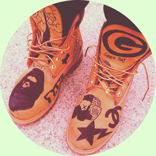 Designed My 1st Pair Of Timbs