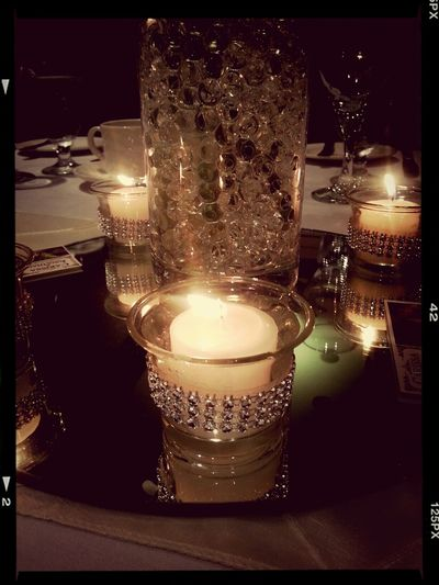Candle Light Special ~ Wedding center pieces