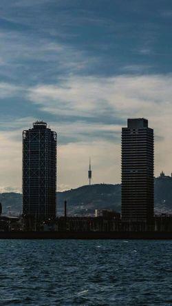 Catalunya Estructuras Torre Mediterranean  Barcelona Bcn I Love My City Sea And Sky Mar Sea Mediterraneo Urban Torres Battle Of The Cities