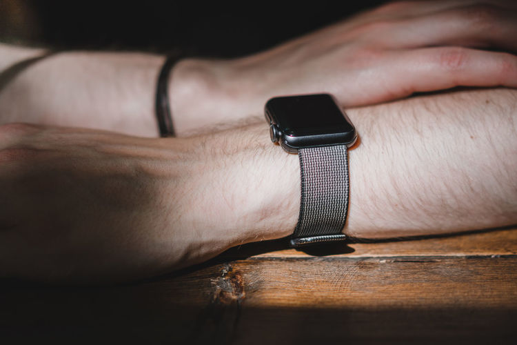 The Watch Apple Watch Close-up Connection Day Gear Human Body Part Human Hand Indoors  One Person People Real People Tech Gear Technology Watch