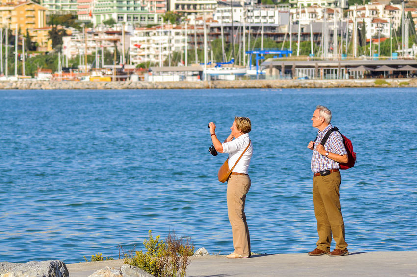 Love Adult Adults Only Day Holiday Kusadasi Kusadasi, Turkey Kuşadası Love Old Couple Outdoors People Real People Sea Standing Togetherness Tourism Tourist Travel Travel Destinations Turkey Two People Vacation Water