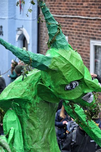 Jack In The Green Festival Jack In The Green May Day 2017 May Day Hastings East Sussex Green Color Devil Green Devil Sprite Built Structure Architecture No People Pagan Festival Pagan Traditional Festival Arts Culture And Entertainment Sheer Happiness May Carnival Spirit Carnival Crowds And Details Crepe Paper Close-up Headwear Tradition