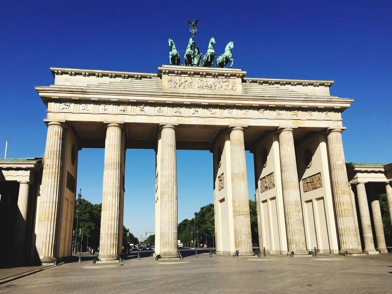 Brandenburger Tor, Berlin, Germany Berlin Love Berlin Life Berlin Photography Brandenburger Gate Gate Brandenburger Tor No People Germany Berlin Architecture Built Structure History The Past Architectural Column Travel Destinations Sky Tourism Travel City Low Angle View Old Ancient Clear Sky Day Representation