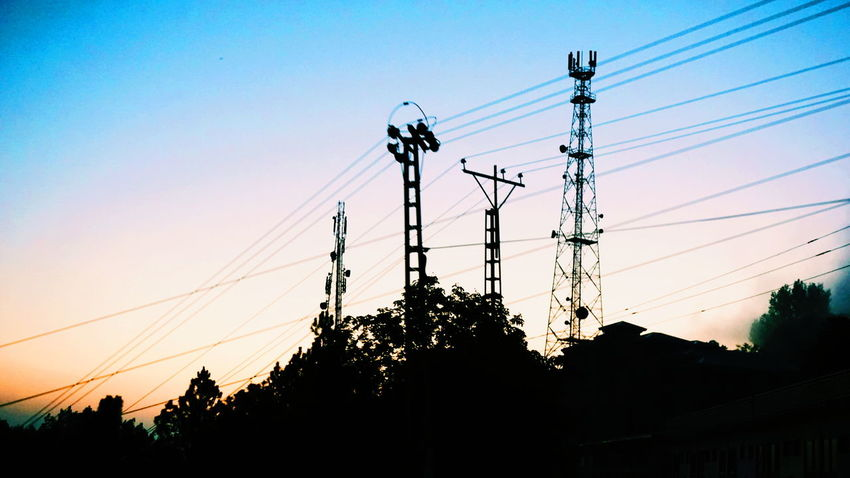 Sunset Cable Power Line  Silhouette Electricity  Low Angle View Fuel And Power Generation First Eyeem Photo Pakistan