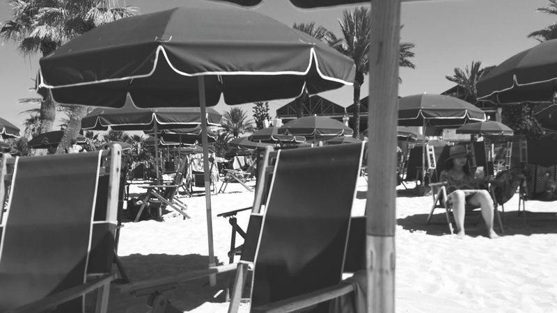 EyeEm Selects A Day at Palm Beach🏖☀️⛱fun in the sun. Beach Photography Beachumbrellas Black & White Shadows & Lights Beachchairs Contrast