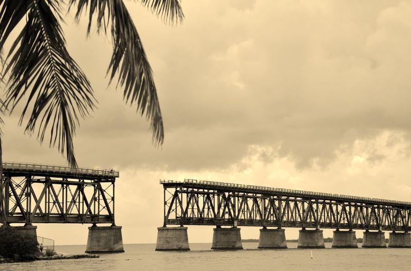 Florida keys overseas heritage trail over sea against sky
