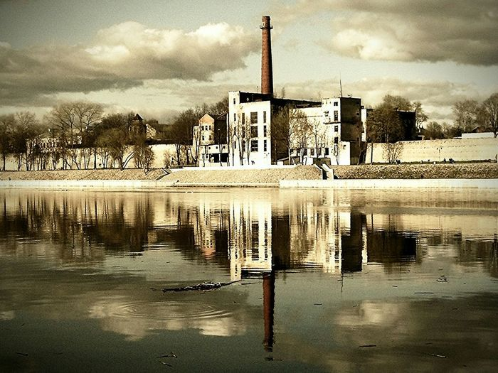 Reflection Water Sky Architecture Nature Steampunk Tehnology Retro Style Vintage Grunge лакиМираж LakiMirazh лмд Lmd Россия Russia Nature архитектура Pskov Псков