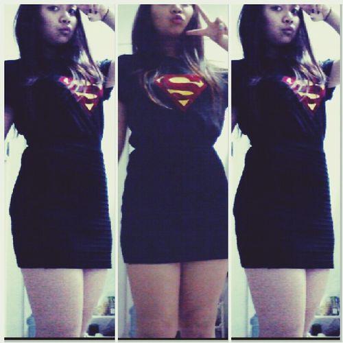Outfit #OOTD Supermanshirt Blackskirt