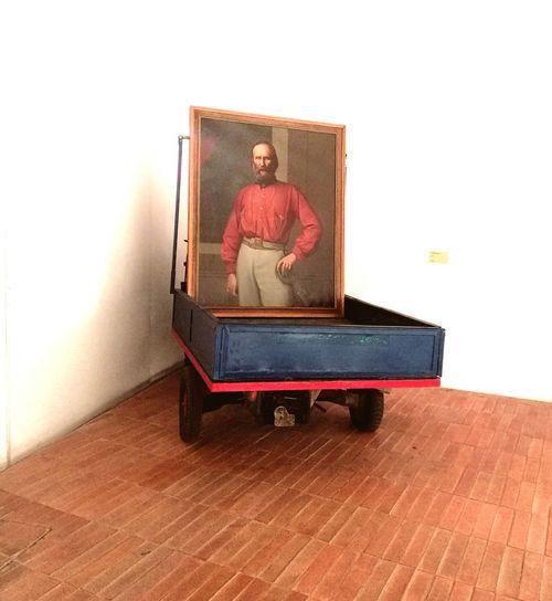Garibaldi Galleria D'arte Moderna Dipinto Lambretta Piazza Sant'Anna Palermo❤️