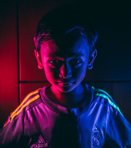 Personality Kids Portrait Lowlight Halloween Portrait Child Evil Childhood Spooky Looking At Camera Face Paint Body Paint Stage Make-up HUAWEI Photo Award: After Dark Be Brave EyeEmNewHere Capture Tomorrow My Best Photo