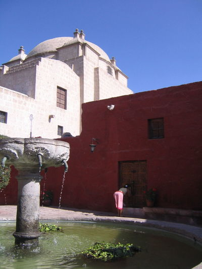Architecture Arequipa Arequipa - Peru Building Exterior Built Structure Clear Sky Day Monastary Monasterio De Santa Catalina No People Outdoors Sky Water