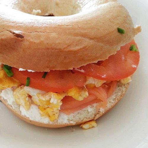 Morning cravings... Breakfast Bagel Bagelsandwich Bagelapocalypse Fodie Homecooking Athens Wpphoto