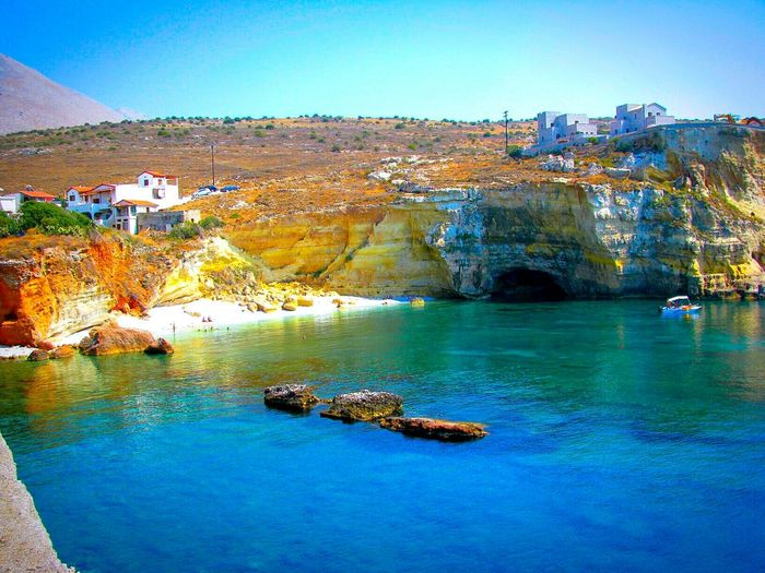 Cliff Steep Cliffs Beach Beach Photography Life Is A Beach Blues Shades Of Blue Golden Beach Houses Boats A Moment Of Zen... Tranquility Tranquil Scene Peace And Quiet Rocks Rocks And Sea Mani Lakonias Peloponese Rocks And Water Coastline Landscapes With WhiteWall Miles Away Blue Wave