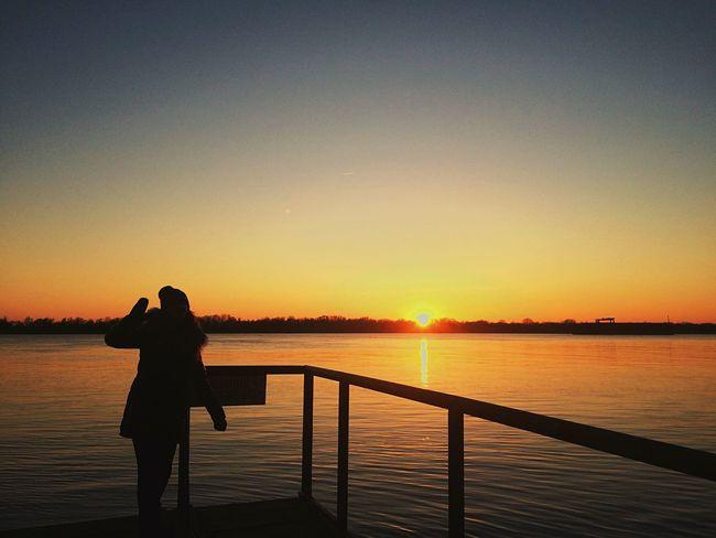 Vilkovo Nature Danube River Landscape Sunset