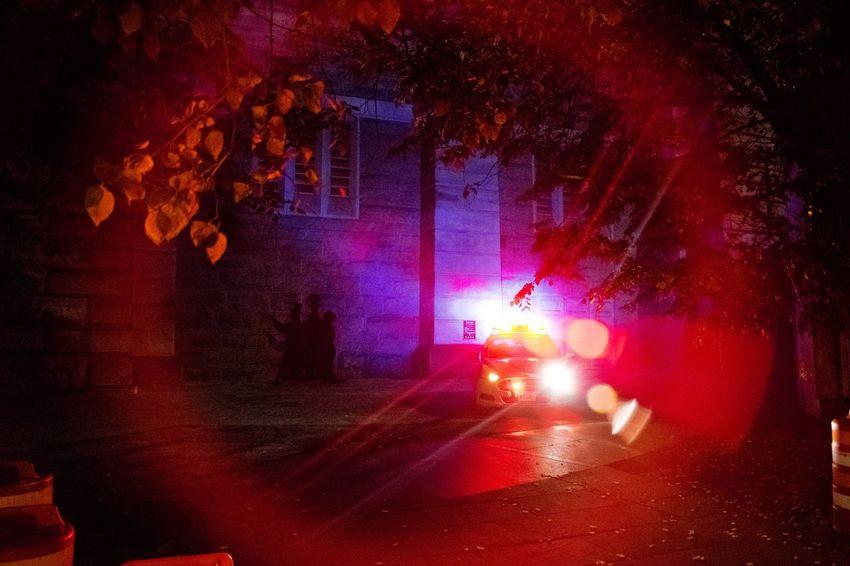 The Street Photographer - 2016 EyeEm Awards Light Police Crime Bridge Red