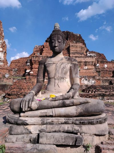 Historic City of Ayutthaya Religion Sculpture Belief Spirituality Architecture Place Of Worship The Past History Travel Destinations Ancient Civilization Ancient Phra Nakhon Si Ayutthaya,Thailand