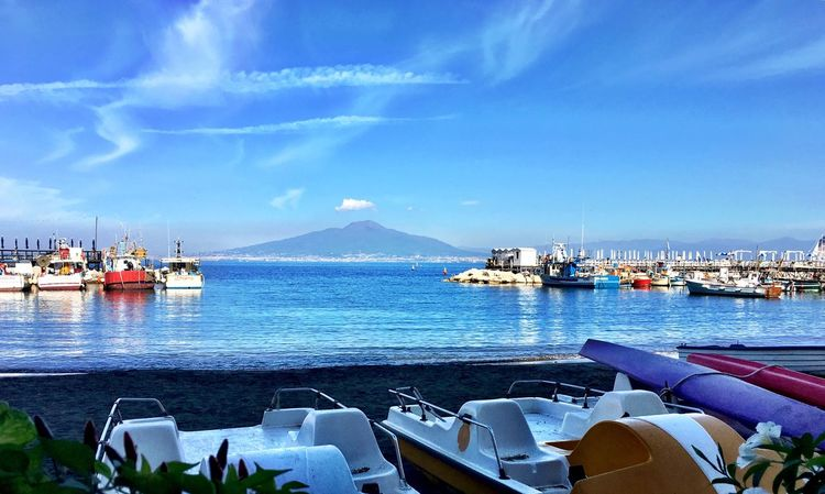 First Eyeem Photo Marina Marina grande sorrento Italia italy Amalfi Italy amalfi coast Volcano Landscape volcano Vesuvio Vesuvio Landscape Beautiful City vesuvius Fishing Village Fishing Boats Boats And Moorings Boats