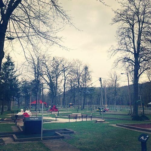 Hello childhood. På Lewistown Hometown Nostalgia kishpark