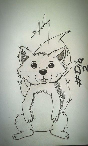 Dia2 AnimalFavorito Ardilla *o* ... dibujos atrasados ahora elnque sigue. pd;no se dibujar ardillas :c
