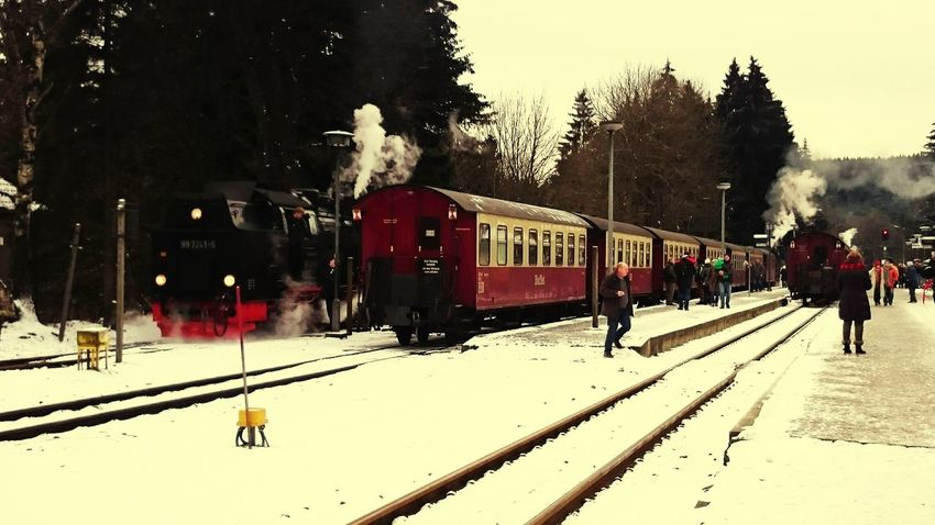 A Cold Windy Day Winter Train Station Oldfashioned Cold Days