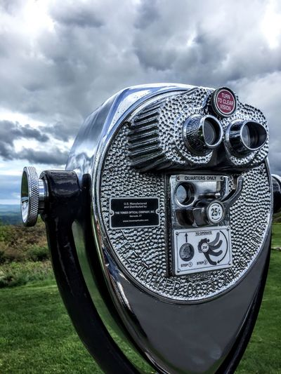 View Viewpoint Mountains Coin-operated Binoculars Futuristic Technology Sky Close-up Cloud - Sky Grass Coin Operated Telescope Observation Point Binoculars Historic Lookout Tower