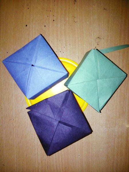 These little Paper Box Paper Origami