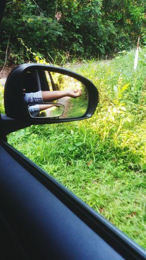 mirror leftection Side Mirrior Car Accessories Grass Selfie