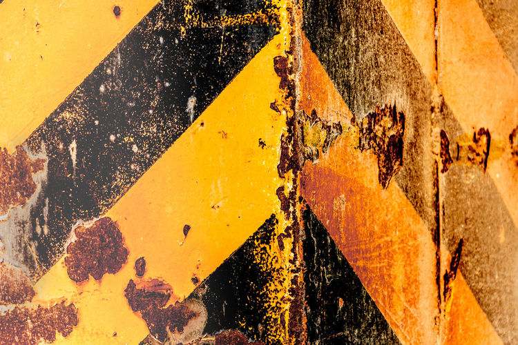 Architecture Backgrounds Bad Condition Close-up Damaged Day Decline Deterioration Full Frame Metal No People Old Outdoors Run-down Rusty Sign Textured  Wall - Building Feature Weathered Yellow
