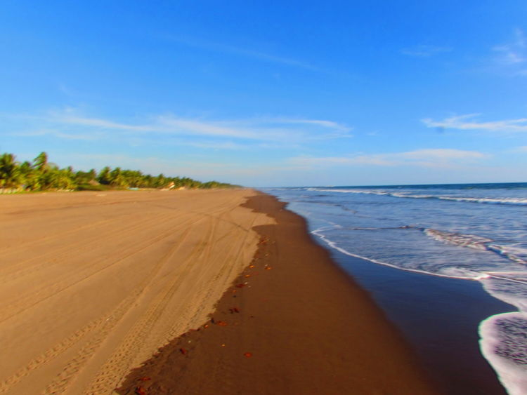 Beach Beauty In Nature Blue Day Horizon Over Water Nature No People Outdoors Sand Sand Dune Scenics Sea Sky Three Colors Tranquil Scene Tranquility Water