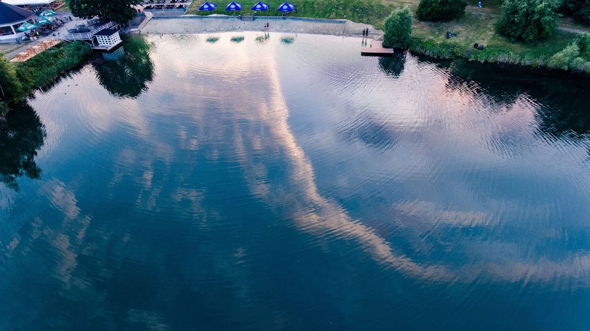 Perspectives On Nature Water Reflection Outdoors Waterfront Nature Tree Beauty In Nature Sky Sunset Summer Czech Republic Lake Dji Phantom 4