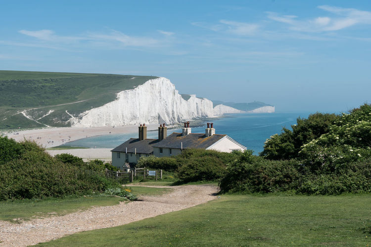 Seaford Head, Seven Sisters Country Park, East Sussex, England 3 Beach Beauty In Nature Building Exterior Cliff Cottage Day Grass Landscape Nature No People Outdoors Scenics Sea Seaford Sky South Downs Tranquil Scene Tranquility Travel Destinations Water