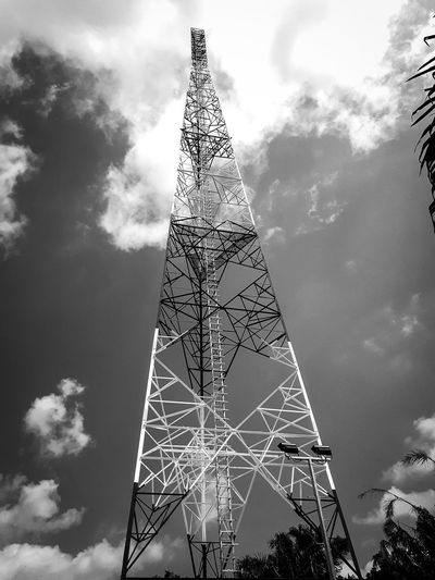 New Telecommunication tower Sky Cloud - Sky Metal No People Architecture Outdoors Day Microwave Tower Radio Frequency rf Broadcasting Tower Wave Band