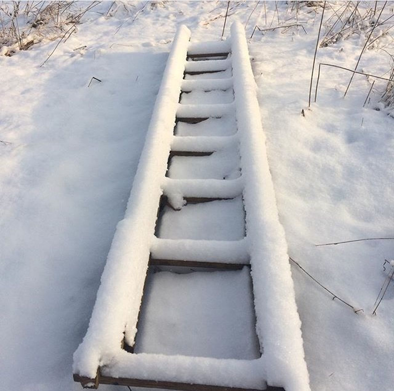 winter, snow, cold temperature, white color, white, weather, day, high angle view, outdoors, nature, no people, the way forward