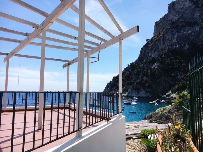 Observation Point By Sea At Capri