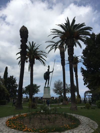 Acilleion palace on Corfu. (4) Greece Photos CorfuIsland Statue Human Representation Sculpture Monument Park - Man Made Space Building Exterior History Art And Craft Travel Destinations