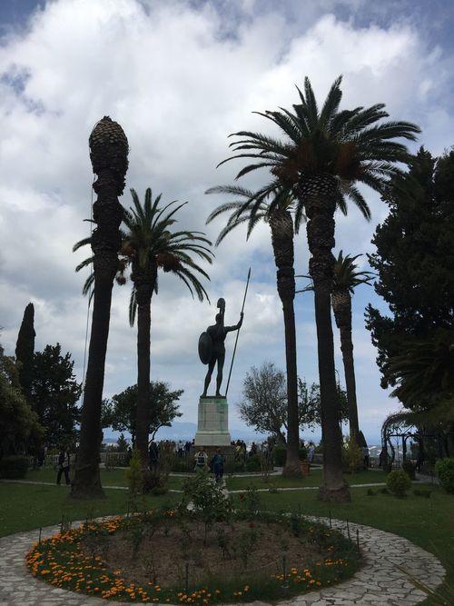 Acilleion palace on Corfu. (4) Greece Photos CorfuIsland Statue Human Representation Sculpture Monument Park - Man Made Space Building Exterior History Art And Craft Travel Destinations
