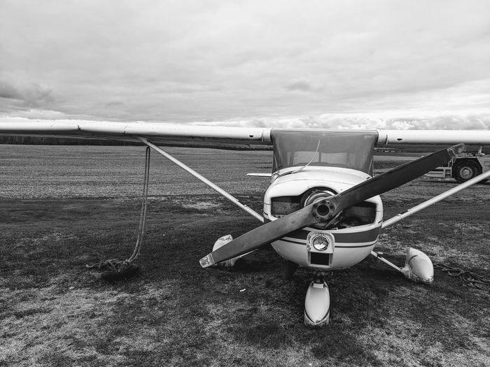 Aircraft Wing Airplane Runway Sport Soccer Field Stadium Sky Cloud - Sky