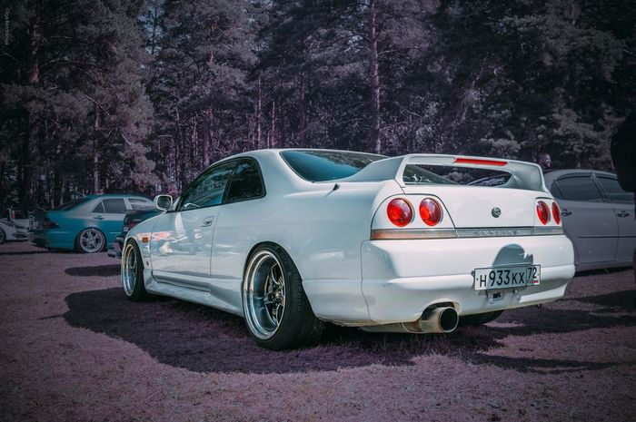 Car Transportation Day Nature Landscape Tree Stance Automotive Automotive Photography Nissan Skyline R33 Plankwill Car