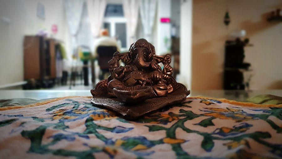 Ganesha Ganpati Blur Portrait God God Is Great. Blessed  Blessing Statue Bronze EyeEm Selects Celebration Dessert Table Cake Close-up Sweet Food Idol